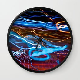 City (Light)s (Graffiti) 8 Wall Clock