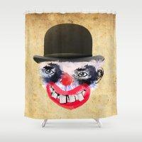 clown Shower Curtains featuring Clown by Ahmet Hacıoğlu