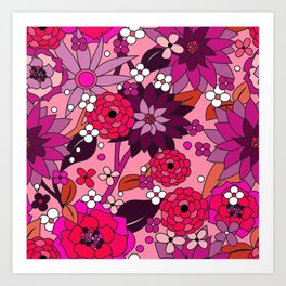 Flower Power pink Art Print