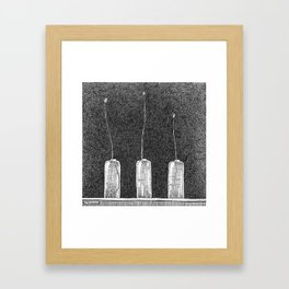 Three Buds Framed Art Print