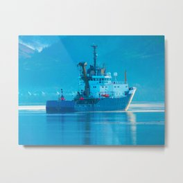 Ship on Loch Lihnne Metal Print