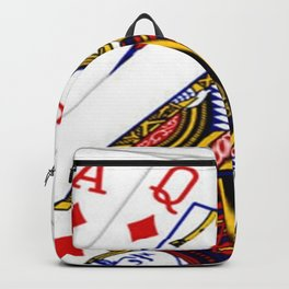 JACK, ACE & QUEEN OF DIAMONDS PLAYING CARDS Backpack