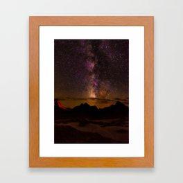 Milky Way over the Badlands South Dekota Framed Art Print