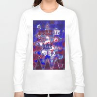 patriotic Long Sleeve T-shirts featuring AMERICAN PATRIOTIC by hippiedaisysart