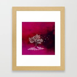Wind On a Pink Day Framed Art Print