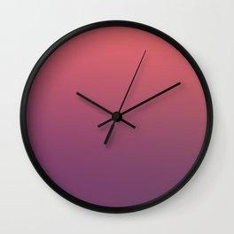 HAUNTED PUMPKIN - Minimal Plain Soft Mood Color Blend Prints Wall Clock