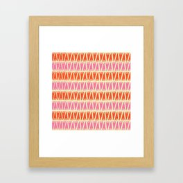Tee Pee Sixties Framed Art Print