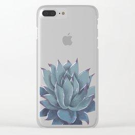 Echeveria Colorata Acrylic Clear iPhone Case