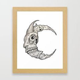 All seeing sky Framed Art Print
