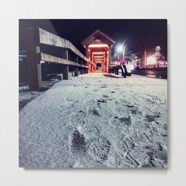 Footprints In The Snow Metal Print