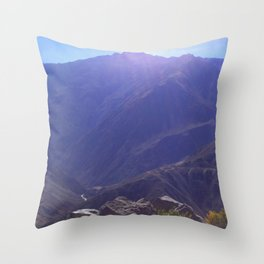 Top of the Rockies Throw Pillow