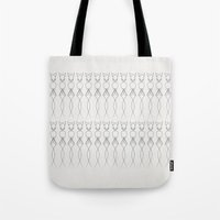 quibe Tote Bags featuring One line nude by quibe
