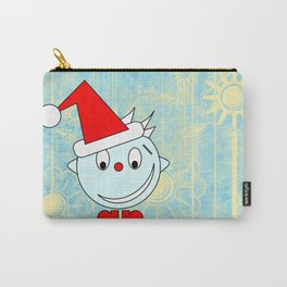 Funny Head with half smile Carry-All Pouch