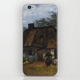 Vincent Van Gogh - Farmhouse in Nuenen iPhone Skin