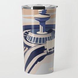 Soviet Modernism: Zvartnots airport, Armenia Travel Mug
