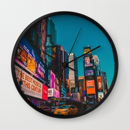 City Lights NYC (Color) Wall Clock