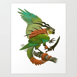 Green-Cheeked Conure Art Print