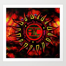 alice in chains the logo Art Print