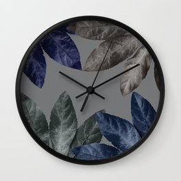 Vintage Leaf Design 2 Wall Clock