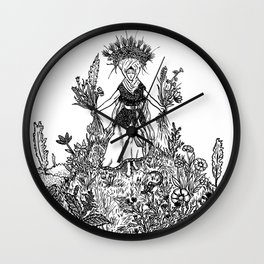 Flower Priestess Wall Clock