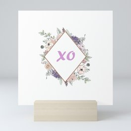 Lettering and Watercolor Flowers Mini Art Print