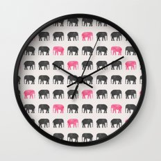 Elephant walk  Wall Clock