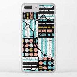 Distressed pattern Clear iPhone Case