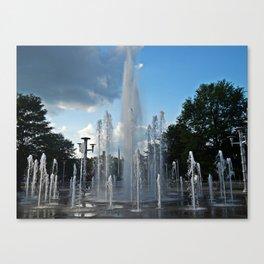Worlds Fair Park Fountains 3  Canvas Print
