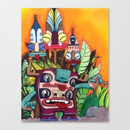 Voodoo Monster Party! Canvas Print