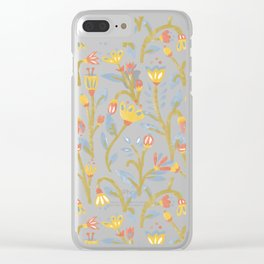 Dark Botanical Story Clear iPhone Case