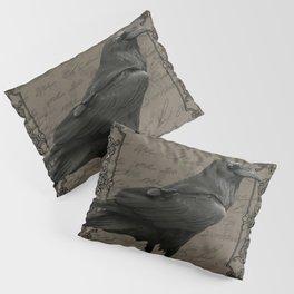 Vintage Halloween raven Pillow Sham