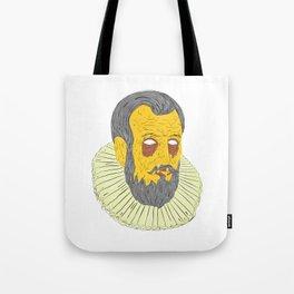 Nobleman Wearing Ruff Collar Grime Art Tote Bag