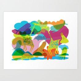 Beasts of Paradises Art Print