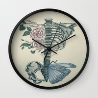 skeleton Wall Clocks featuring Skeleton by ArtSchool