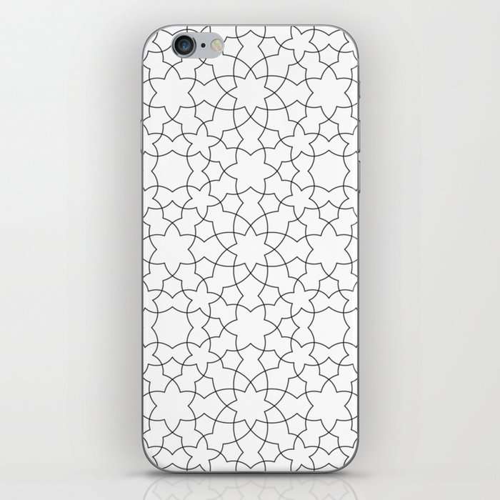 Minimalist Geometric 101 Black And White iPhone Skin