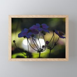 Concept flora : Autumn anemone Framed Mini Art Print