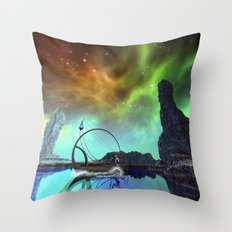 Fantasy landscape Throw Pillow