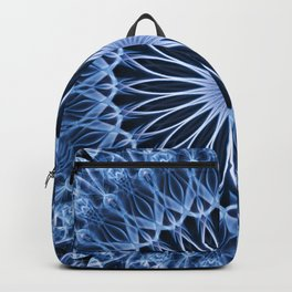 Blue mandala with flower shape Backpack