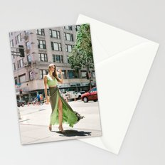 Green Dress in Downtown LA Stationery Cards