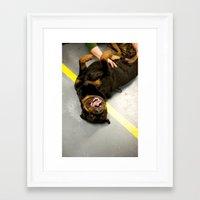 rottweiler Framed Art Prints featuring Happy Rottweiler by Ann Yoo