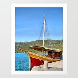Sailing in Croatia Art Print