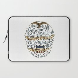 small government, larger freedom Laptop Sleeve
