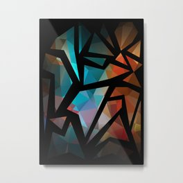Abstract background of triangles polygon print. Metal Print