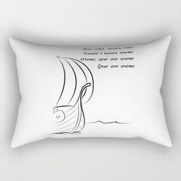 This will never end, Vikings Rectangular Pillow