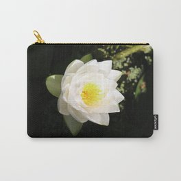 White Waterlily Carry-All Pouch