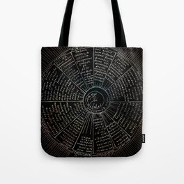 The Names of the Witches Tote Bag