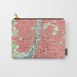 Vintage Map of Grand Rapids Michigan (1967) Carry-All Pouch