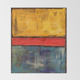 Primary Rothko Throw Blanket