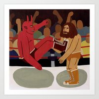 fight Art Prints featuring Fight by Jack Teagle