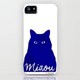 MIAOU bleu iPhone Case